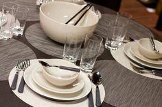 Winter table setting with Iittala Teema plates.