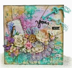 In My Little Korner: Mixed Media Canvas Guest Designer Project for The Twinery - You Hold the Keys...