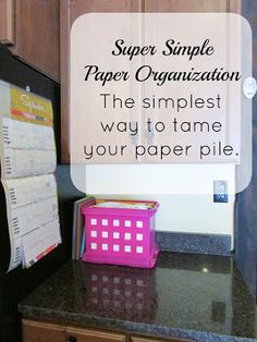 The simplest way to organize your paper pile and keep it under control!