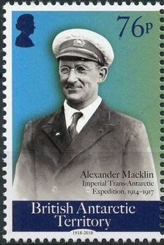 Stamp: Alexander Macklin (British Antarctic Territory (BAT)) (Centenary of the End of World War I) Col:GB-AT 2018-05A