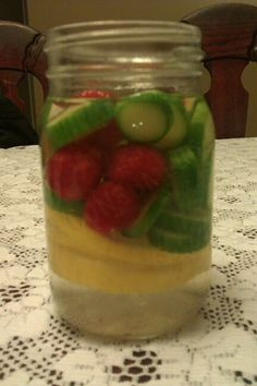Detox water - cucumber, lemon and rasberries!