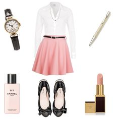 """""""Exam outfit"""" by whohatesbambi on Polyvore for everybody who likes a classical and tidy look to impress your examiners and look feminine"""