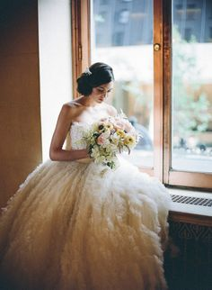 Feathery dream @Ines Di Santo wedding dress