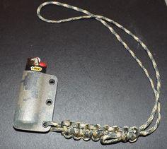 Camo Kydex Survival Lighter holder with paracord neck lanyard Case Digital Camo Digital Camo, Paracord Projects, 550 Paracord, Kydex, Paracord Bracelets, Bushcraft, Leather Working, Edc, Lighter