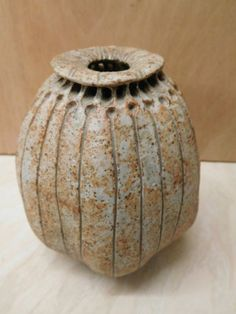 Details about ALAN WALLWORK STUDIO POTTERY STONEWARE VASE - SIGNED A.W