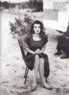 "Milla Jovovich in ""Lolita 1990"" by Peter Lindbergh for Vogue Paris May 1990"