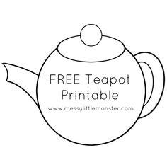 free printable teapot image for kids