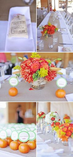 clementine place cards. so great.