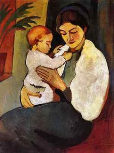 Mother And Child August Macke Expressionism A2 Box Canvas Large in Art,Canvas/ Giclee Prints, | eBay