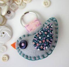 Felt Bird Keychain