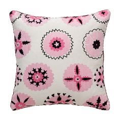 Pink Morning Suzani Pillow