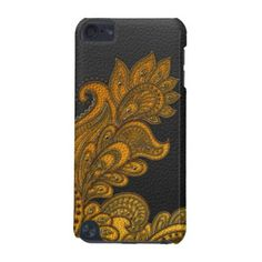 Elegant Faux  Leather  Oriental Floral design iPod Touch (5th Generation) Cover - elegant gifts gift ideas custom presents