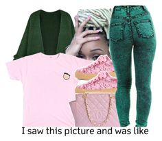 """""""🍑"""" by fashionkilla-lex ❤ liked on Polyvore featuring Chanel"""