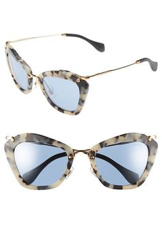 Women's Miu Miu 55mm Sunglasses - Matte Havana