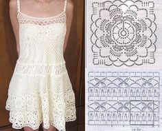 Фото, автор Tayrin2608 на Яндекс.Фотках Hippie Crochet, Crochet Art, Crochet Woman, Crochet Motif, Hand Crochet, Crochet Long Dresses, Crochet Skirts, Crochet Clothes, Purse Patterns
