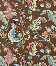Covington Wilmington Chocolate Floral Fabric