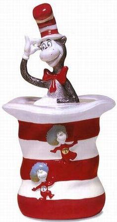 Dr. Seuss Cat in the Hat Cookie Jar