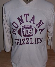 f4087a5e0 Vintage 1980s Montana Grizzlies football jersey t shirt Champion Medium