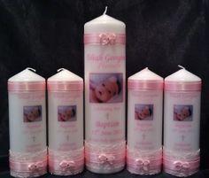 baptism candles | Baptism Candle Set [] : Bellabee Candle Designz, Christening, Baptism ...