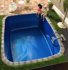 DIY Miniature Doll Swimming Pool - Made using a cat litter pan! Miniture Dollhouse, Diy Dollhouse, Miniature Dolls, Mini Swimming Pool, Mini Pool, Diy Doll Pool, Dollhouse Landscaping, Diy Ag Dolls, Muñeca Diy