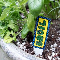 DIY Herb Markers or Garden Stakes for Summer Fun Gardening - Soap Deli News