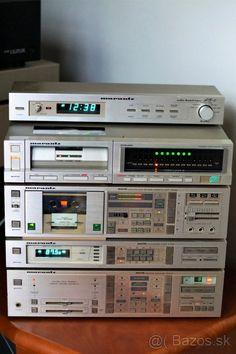 MARANTZ HIFI stereo set - komplet jak na foto - Česká republika - Bazoš. Hifi Speakers, Hifi Stereo, Hifi Audio, Hifi Music System, Audio System, Radios, Audio Rack, Hi Fi System, Electrical Projects