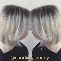 Stretch root on platinum white blonde hair