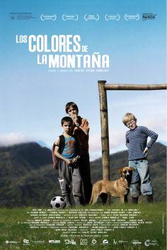 Los colores de la montaña. Estrenada en el año 2011 y dirigida por Carlos César Arbélaez. Es tal vez una de las películas más bellas de la historia del cine colombiano, pues esta vez son los niños quienes se encargan de contar una triste historia de desplazamiento, desde sus miradas de niñez y de inocencia.