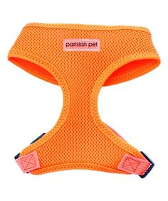 Neon Orange Mesh Pet Harness