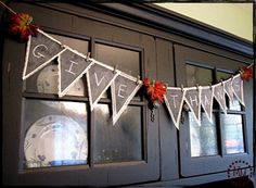 chalkboard bunting by The Scrap Shop