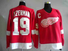 Detroit Red Wings Steve Yzerman #19 red Jersey