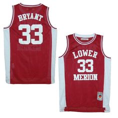 827ac1522 Lower Merion Aces Kobe Bryant Maroon High School Jersey (2X)
