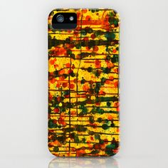 Untitled Golden Yellow  iPhone Phone Case by HylaWaldronArtist