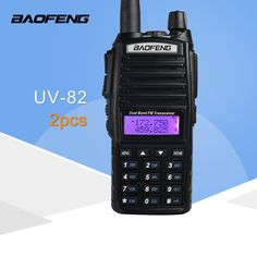 2 Pcs Baofeng Uv 82 Dual Band 136 174 400 520 Mhz Fm Ham Two Way Radio Transceiver Walkie Talkie Talkie Walkie, Rf Connector, Bandy, Two Way Radio, Ham Radio, Cool Things To Buy, Stuff To Buy, Free Shipping, Twin