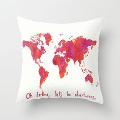 Oh, Darling Throw Pillow by KristinMillerArt - $20.00