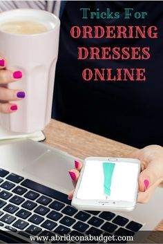 #ad Are you thinking about ordering your wedding or bridesmaid dress online? Be sure to check out this post with tricks for ordering dresses online from www.abrideonabudget.com.