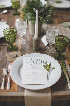 Vintage green and white wedding ideas | Photo by Your Wedding Project | Read…