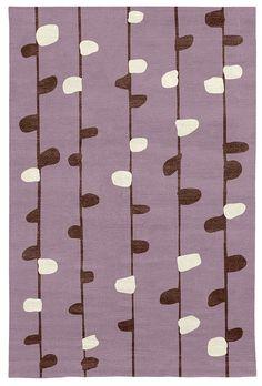 Judy Ross Hand-Knotted Custom Wool Calendar Rug mauve/raisin silk/cream