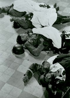German KIAs lie on a tile floor during the opening phase of the invasion of Russia. Between 1939 and 1941, the German army suffered comparatively small losses; Barbarossa though provided a surprise that was inevitable: German KIA numbers climbed so fast that many units found themselves temporarily out of the line even before the debacle before Moscow.