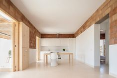 Can Xomeu Rita - Marià Castelló · Architecture Minimalist Architecture, Contemporary Architecture, Interior Architecture, Brick Interior, Interior Design, Charming House, Sweet Home, New Homes, House Design