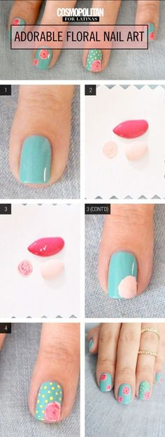 Nail Art How-To: Pretty Floral Manicure