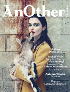 AnOther Magazine Issue 21, autumn/winter 2011, photographed by Craig McDean - Love this cover so much, so strange, but so cool!
