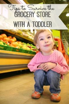 """Tips to Survive the Grocery Store with a Toddler - some great """"meltdown prevention"""" advice to avoid a tantrum in aisle five!"""