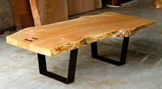 Greg Klassen Furniture Maker Live Edge Maple Coffee Table
