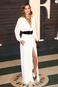"""Jessica Alba - People à la soirée """"Vanity Fair Oscar Party"""" après la 88ème cérémonie des Oscars à Hollywood. Le 28 février 2016"""