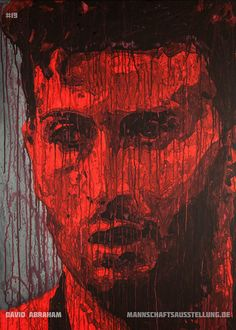 David Abraham, Eintracht Frankfurt, acrylics on canvas, 70cmx100cm