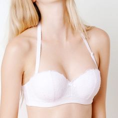 LOU bandeau bra with removable straps. Perfect for bridals!