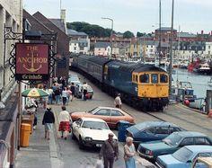 transpress nz: boat trains of Weymouth along the quay Electric Locomotive, Diesel Locomotive, Steam Locomotive, Weymouth Harbour, Weymouth Dorset, Rail Train, By Train, Dorset Coast, N Scale Model Trains