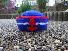 Touca croche marinheiro