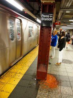 Vomit at Penn Station
